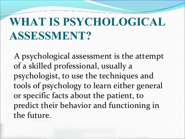 Psychological Assessment Coursework Example